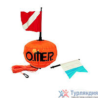 Буй Omer Spherical float with red and alfa flag