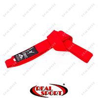 Пояс для кимоно Matsa, красный MA-0040-R (хлопок)