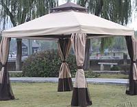Садовый павильон DU-063 coffee с москитками и шторками