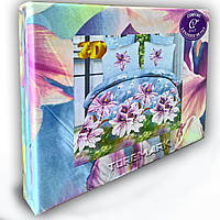 """Комплект постельного белья """"Jack komfort 3D"""" 180*220 см. Цветы Лилия"""