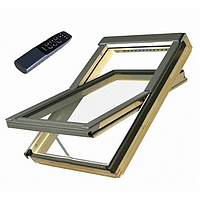 Мансардне вікно Fakro обертальне з дистанційним керуванням(FTP-V U3 Electro)