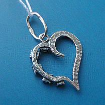 Серебряная подвеска Сердечко, фото 3