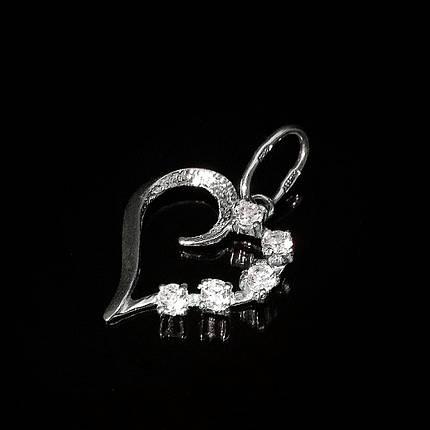 Серебряная подвеска Сердечко, фото 2