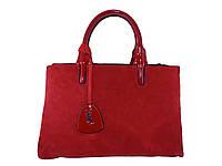 Женская сумка в стиле YSL (красная) №6008-1