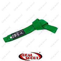 Пояс для кимоно Matsa, зеленый MA-0040-G (хлопок)