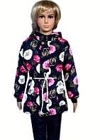Модная детская курточка с цветами