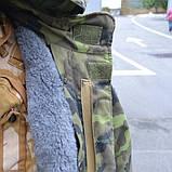 Бушлат зимовий з капюшоном армії Чехії, камуфляж, фото 5