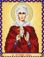 Схема на ткани для вышивания бисером Св. Мученица Лидия