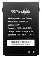 Аккумулятор для Prestigio MultiPhone 3404 Duo оригинальный, батарея PSP3404 Duo