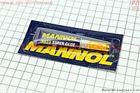 Супер клей Super Glue GEL клеит пластик, керамику, стекло и прочее 3 g фирмы MANNOL