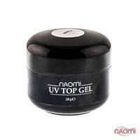 Топ для геля Naomi завершающий UV Top Gel Clear прозрачный, 28 г
