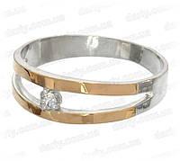 """Женское серебряное кольцо с золотыми пластинами """"Калифорния"""""""