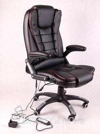 Офисное массажное кресло Veroni черное, фото 2