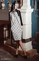 Платье женское, черно-белое, осень, зима, весна P-CASSIDY1-1