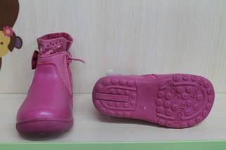 Розовые полусапожки на девочку р.21, фото 2