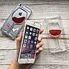 Пластиковый чехол бокал с вином iPhone 6/6s, фото 2