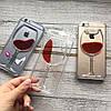 Пластиковый чехол бокал с вином iPhone 6/6s, фото 3