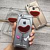 Пластиковый чехол бокал с вином iPhone 6/6s, фото 4