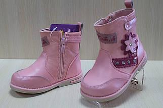Розовые демисезонные сапожки на девочку тм Том.м р.22, фото 2