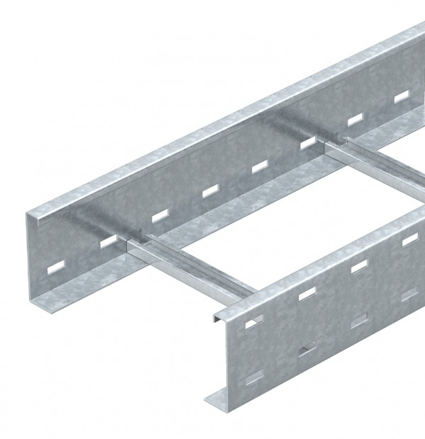 Лоток драбинного типу 100х400, гарячого цинкування, метод Сендзіміра, L 6000