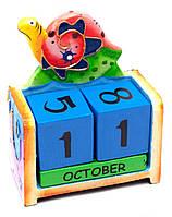 """Календарь настольный """"Черепаха"""" дерево (14,5х10,5х5 см)"""