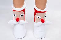 """Флисовые тапочки-сапожки """"Дед Мороз"""" (детские, размер 18-32)"""