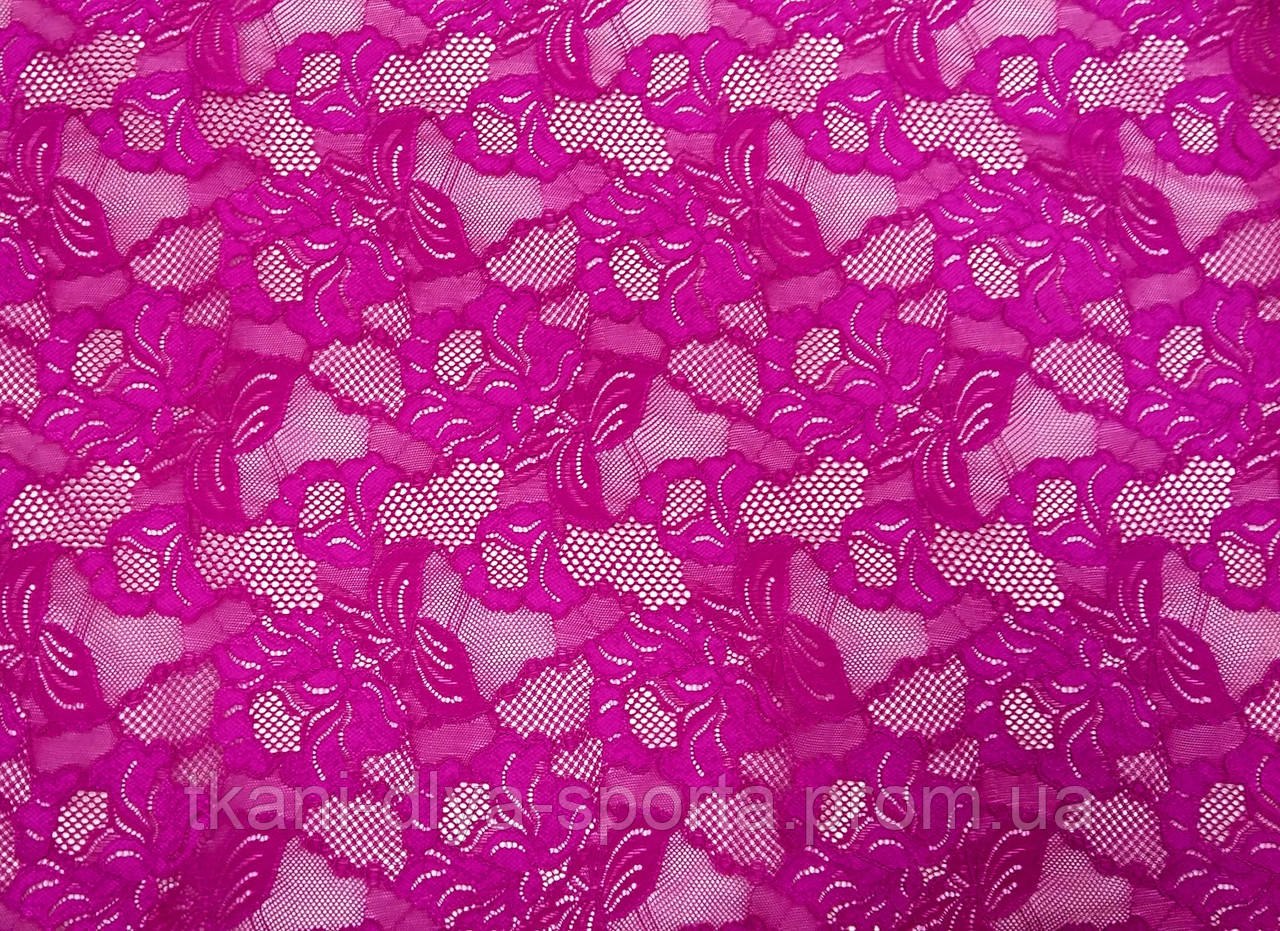 Стрейч-гипюр CHRISANNE (Англия) пурпурный (cascade fuchsia pink)