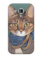 Чехол Samsung S Duos GT-S7562 - Кот в шарфе