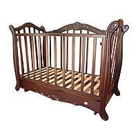 RoyalRoom Лорд детская кроватка-диван на маятнике с ящиком