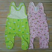 Ползунки с застежкой для новорожденных девочек, байка, фото 1
