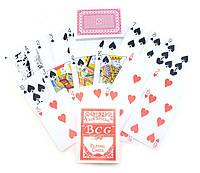 """Карты игральные """"BCG"""" (9х6,5х1,8 см)(12 шт/уп)"""