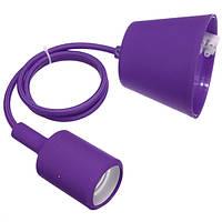 Патрон подвесной Е27 1м фиолетовый (WT255) ST 542