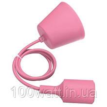 Патрон подвесной Е27 1м розовый (WT255) ST 542
