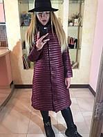 Женское легкое демисезонное пальто на синтепоне в расцветках 08288