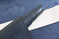 Натуральная кожа для кожгалантереи синяя, толщина 2.0 мм, арт. СК 2136, фото 1