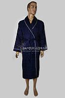 Шелковый мужской халат Nusa (синий) №12500