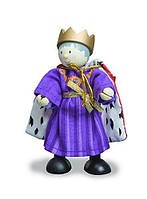 Budkins Король Эдвин кукла из дерева и текстиля