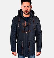 Весенняя куртка парка - 1725 синий