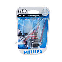 Лампа накливания 9005BVB1 HB3 12V 65W P20d BlueVision (Xenon Effect), Blister 1 pc