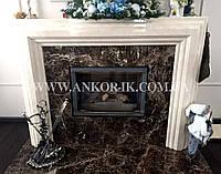 Изготовление каминов из мрамора и гранита