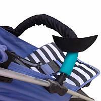 Чехол на ручку и бампер детской коляски цвет (черный)