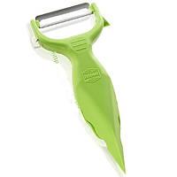 Нож-овощечистка треугольный зеленый