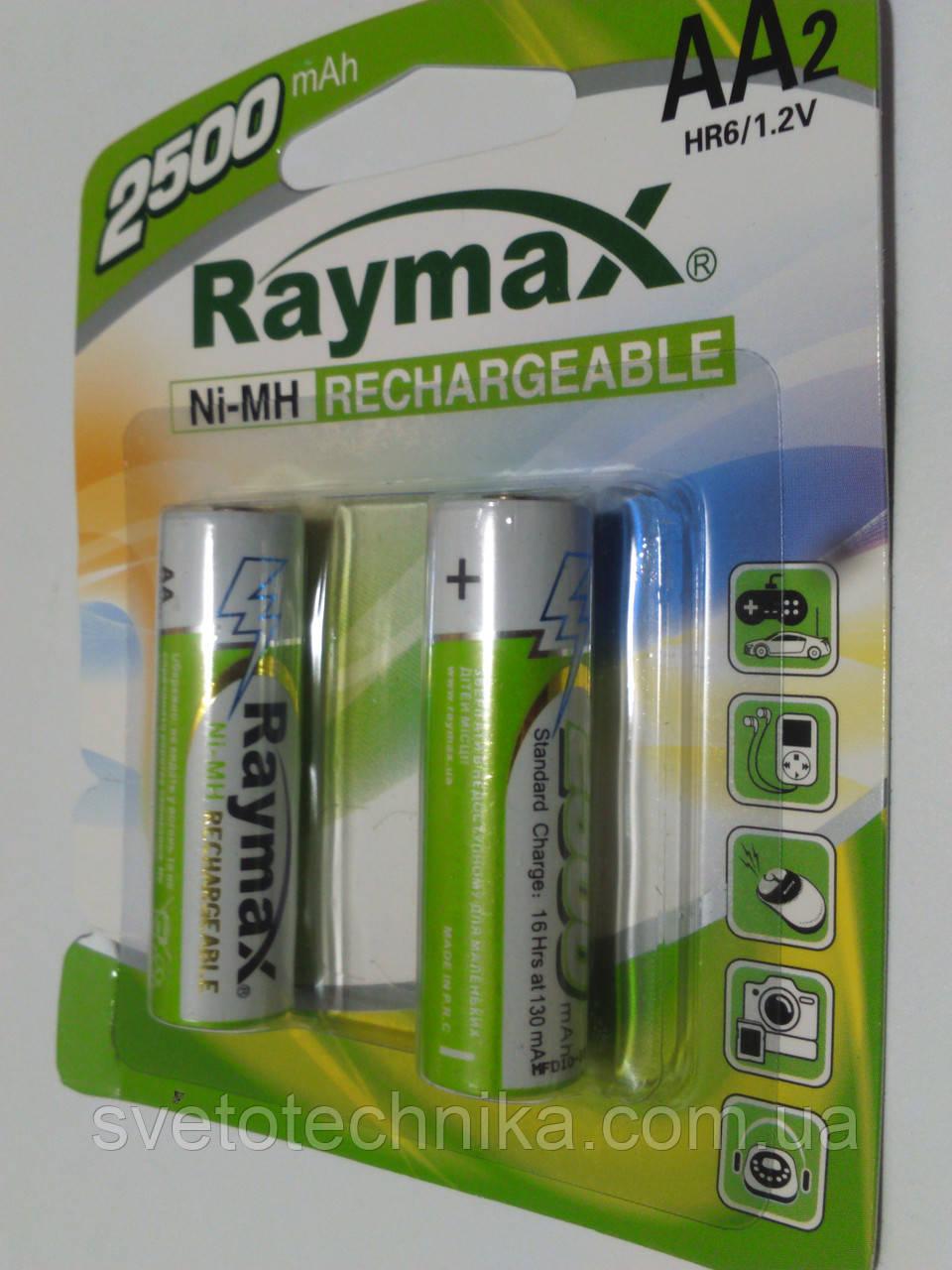 Аккумулятор (2шт.) Raymax HR6 1.2V 2500mAh Ni-MH AA