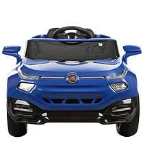Детский Электромобиль Джип Fiat M 3292 EBLR синий, мягкое сиденье, амортизаторы, двери, колеса EVA, пульт, фото 2
