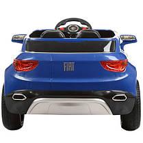 Детский Электромобиль Джип Fiat M 3292 EBLR синий, мягкое сиденье, амортизаторы, двери, колеса EVA, пульт, фото 3