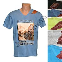 Мужская котоновая футболка HT1m (в уп. до 5 разных расцветок) оптом со склада в Одессе