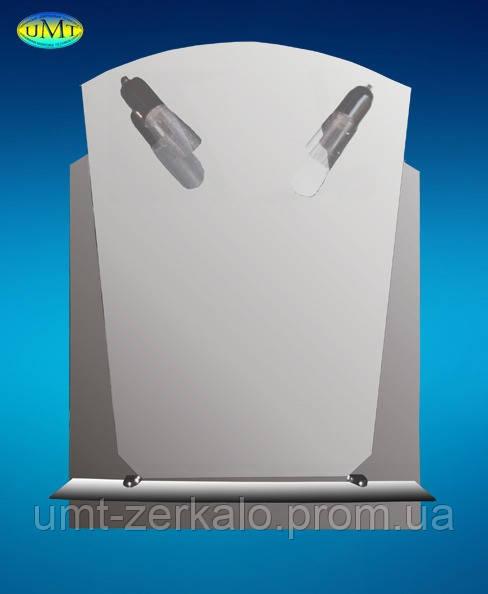 Зеркало с полочкой 009 и 2 светильниками сетка - Украинские зеркальные технологии UMT в Николаеве
