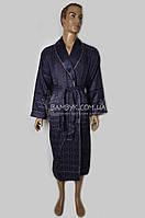 Шелковый мужской халат Nusa (серый) №12500