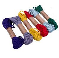 Канат джут (шнур,веревка) декоративный Джутовый набор 6 шт/уп