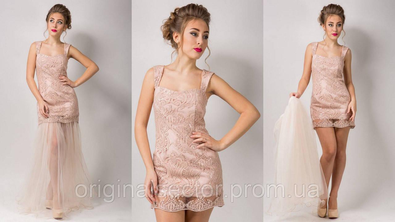 Вечернее платье-трансформер со съемной юбкой